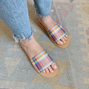 NWT! Madewell Plaid Sandals